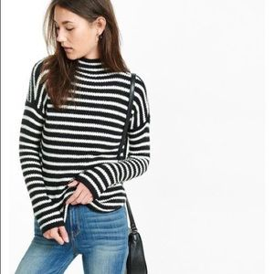NWT Express Mock Neck Striped Sweater